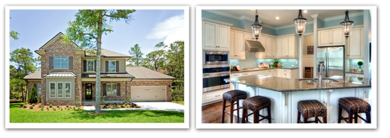 2012 Parade of Homes 1st place winners - Swift Creek – 838 Coldwater Creek, Niceville, exterior and Mill Creek Farms – Brooks at 1463 Mill Creek Dr., Baker, Interior