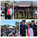 Collage of various photos from the SSG Aaron Hale Welcome Home Celebration