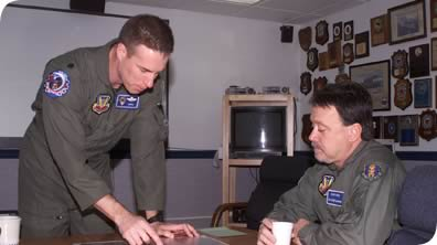 Randy Wise serving as the Honorary 58th Fighter Squadron Commander of the 33rd Fighter Wing