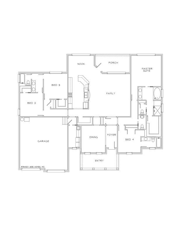 New Homes in Niceville, Florida. Brunswick Floorplan in Swift Creek.