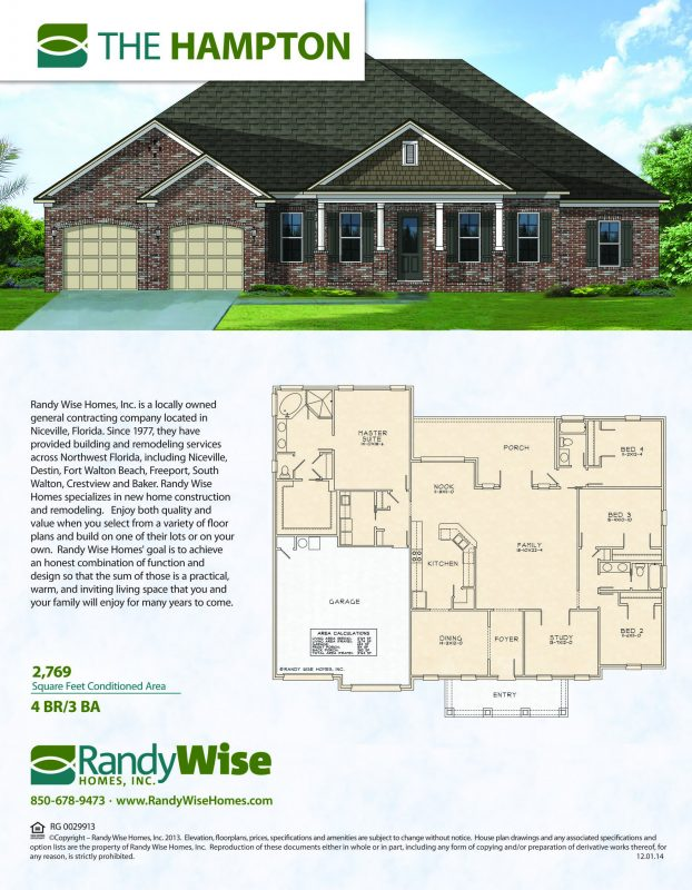 Hampton Floorplan in Swift Creek