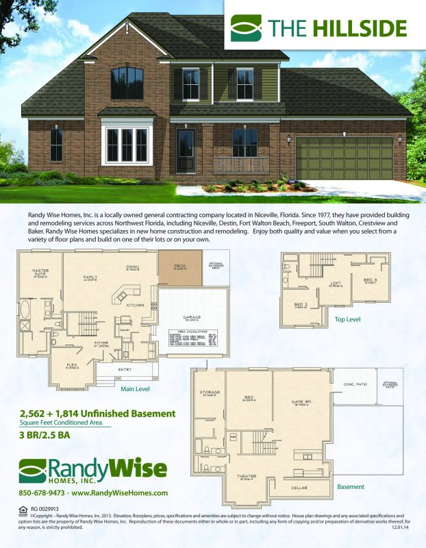 Hillside Floorplan with Walkout Basement in Swift Creek