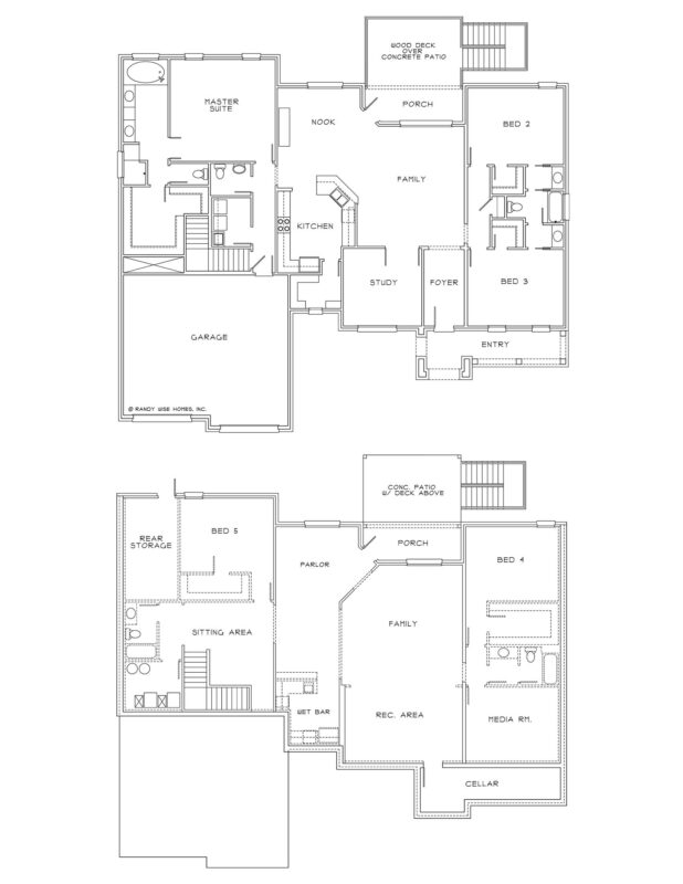 New Homes in Niceville, Florida. Horizon B with Walkout Basement Floorplan.