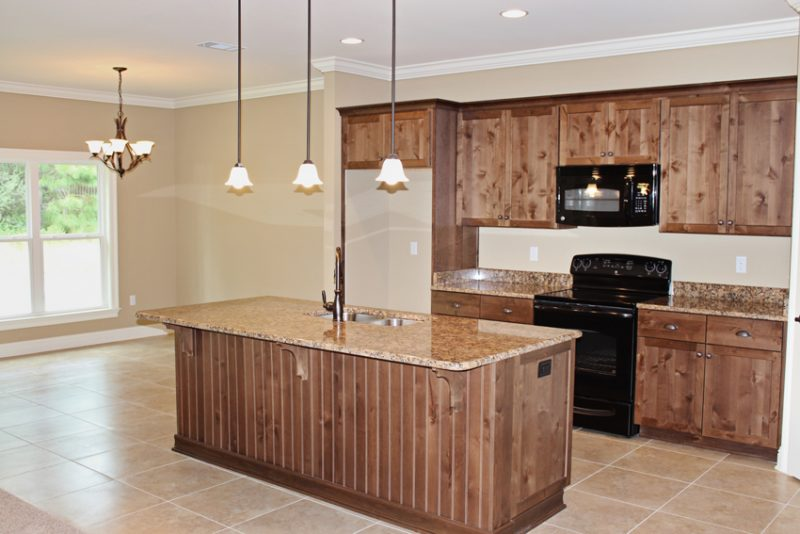 Brooke Model Home kitchen island
