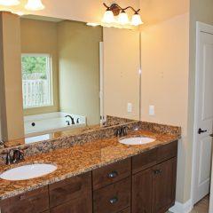 Brooke Model Home bathroom sinks
