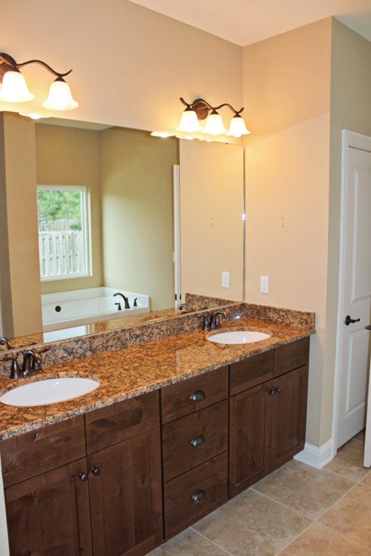 Brooke Model Home bathroom sinks