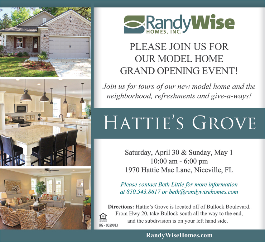 Hattie's Grove Model Home Grand Opening Poster