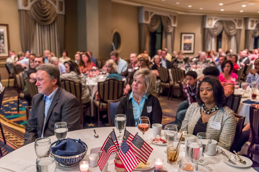 Randy and Debbie Wise attending a Building Homes For Heroes Appreciation Dinner Event