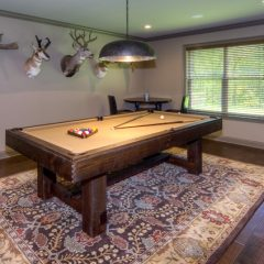 pool table in downstairs game room