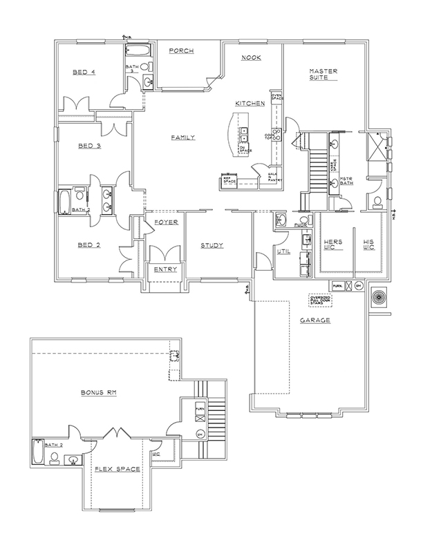 New Homes in Niceville, Florida. Hampton Braden Lux Floorplan in Swift Creek.