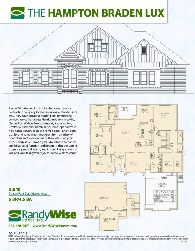 Hampton Braden Lux Floorplan in Swift Creek