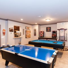 pool and air hockey tables