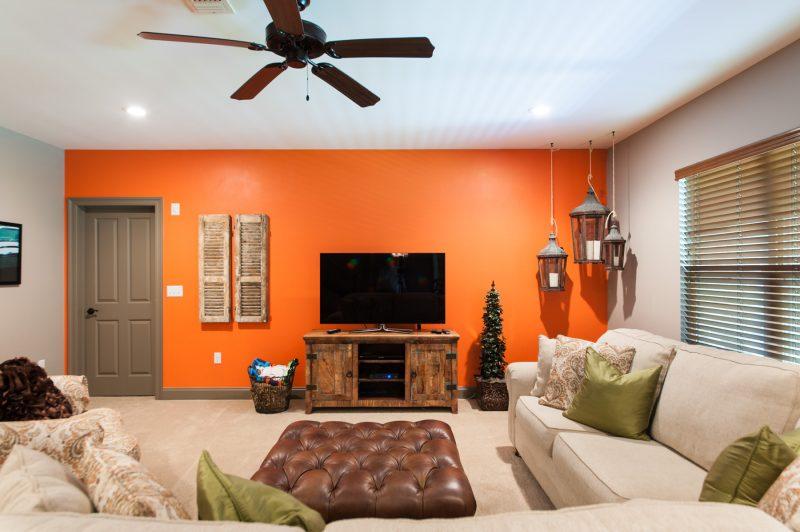 basement open living area