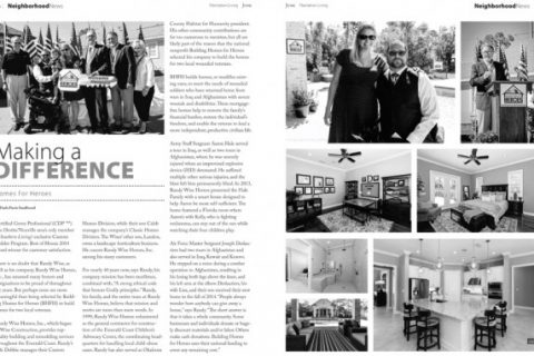 Page from Plantation Living featuring Randy Wise Homes