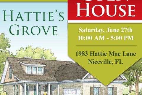 Hattie's Grove model Open House Announcement