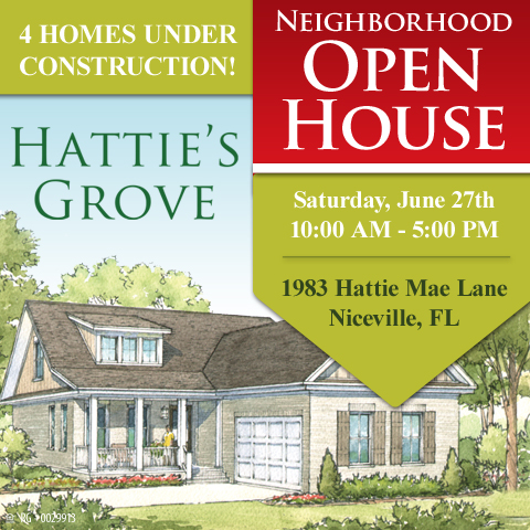 Hattie's Grove model Open House Announcement