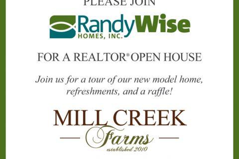 Mill Creek Model Open House Flyer