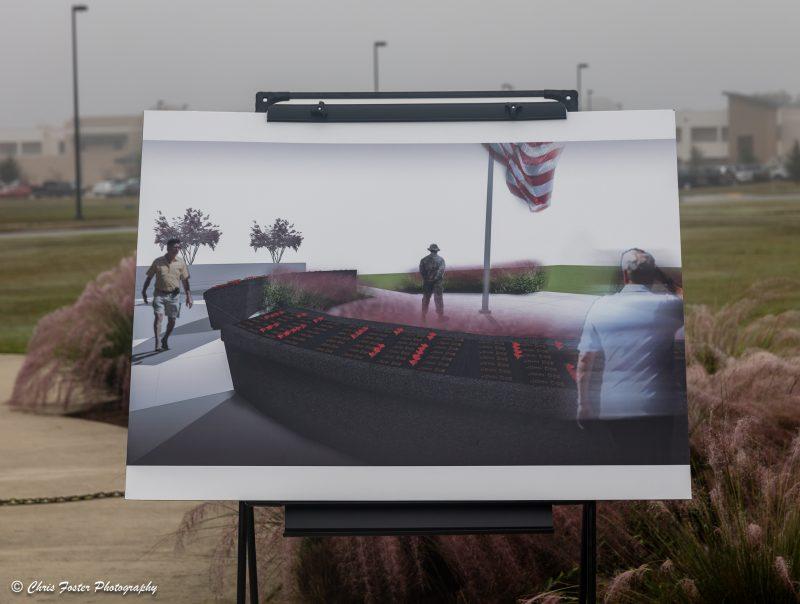 Artist rendering of of memorial wall