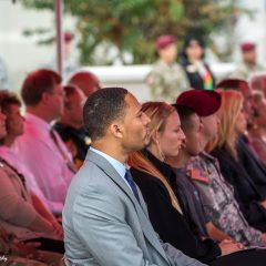 guests listening to the a speaker at the ceremony