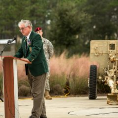 Member of the Special Forces Association Chapter 7 speaking at the ceremony 2