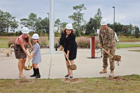 7th Special Forces Group breaking ground at Memorial Wall Site