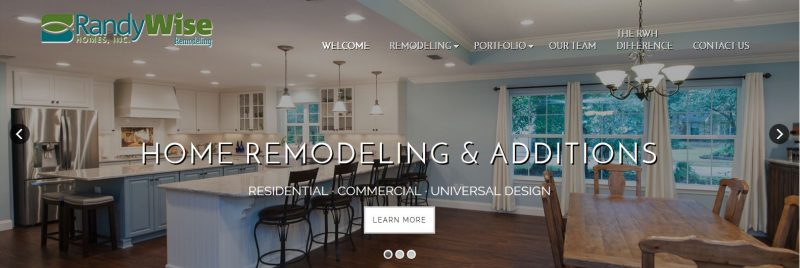Screenshot of Randy Wise Remodeling website