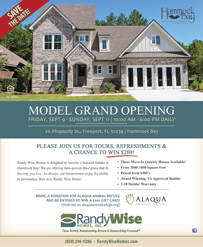Hammock Bay Model Home Grand Opening Poster