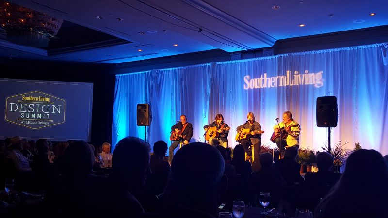 Musicians performing on stage at the Southern Living Design Summit