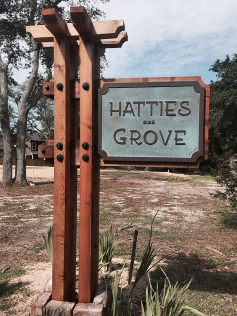 Hattie's Grove Entry Sign