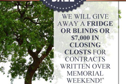 Hattie's Grove Memorial Day Sale Poster