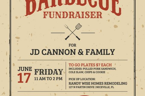 Barbecue Fundraiser Poster