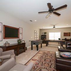 Hammock Bay model home game room interior