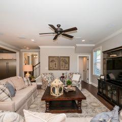 Hammock Bay model home living room