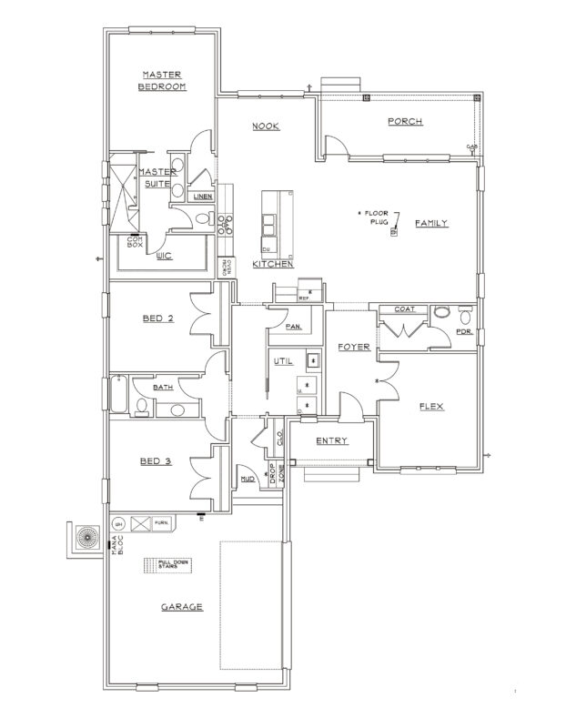 New Homes in Freeport, Florida. Hawthorne Floorplan.
