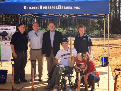 Nelson Family Groundbreaking on New Home