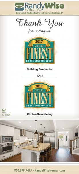 2017 Gold Finest on the Emerald Coast thank you flyer