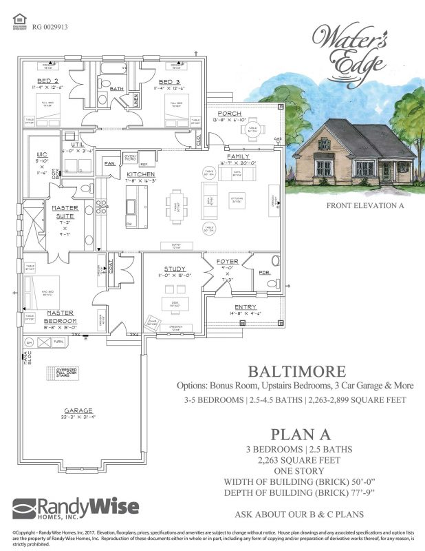 Baltimore Floorplan in Water's Edge
