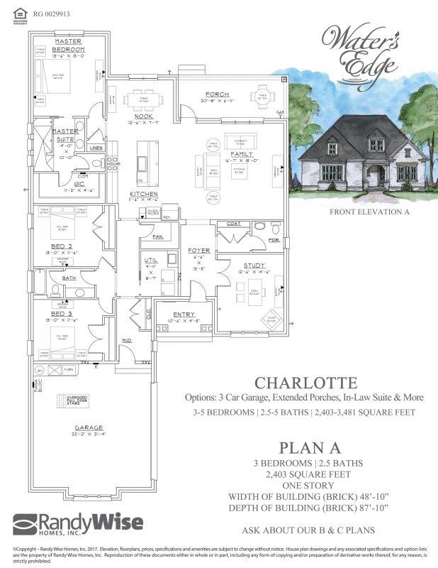 Charlotte Floorplan in Water's Edge