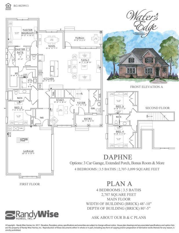 Daphne Floorplan in Water's Edge