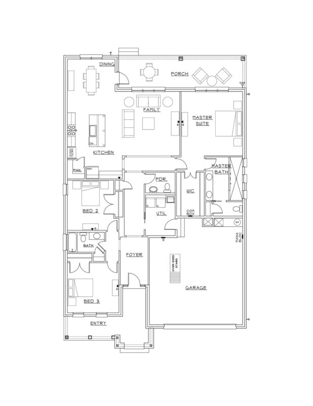 New Homes in Niceville, Florida. Elizabeth Floorplan in Niceville, Florida.