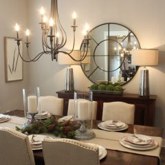 The dining area in the Nelson home