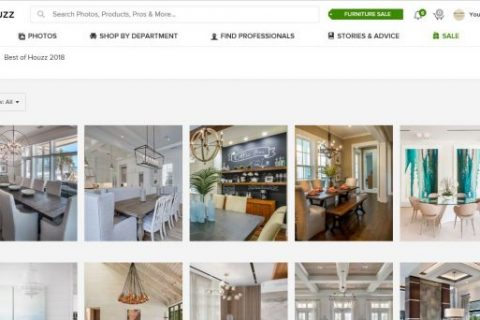 Screenshot of Best of Houzz 2018 web page