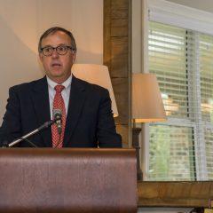 Robert Jones speaks at the event