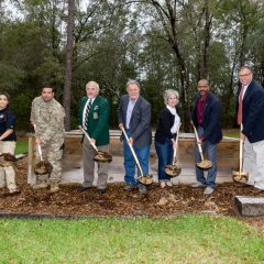 Randy Wise and company breaking ground at the home site