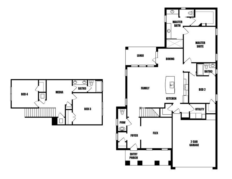 New Homes in Niceville, Florida. The Cottage F Floorplan in Osprey Ridge.