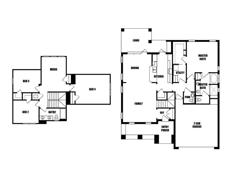 New Homes in Niceville, Florida. The Cottage M Floorplan in Osprey Ridge.
