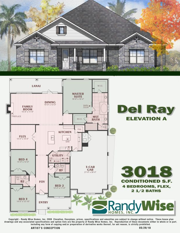 Del Ray Floorplan in Mill Creek Farms