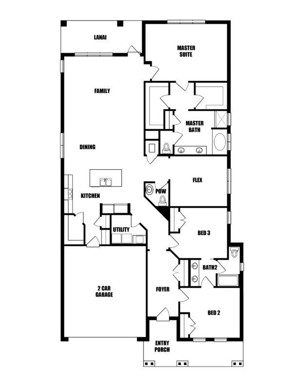 New Homes in Niceville, Florida. The Starfish D Floorplan in Osprey Ridge.