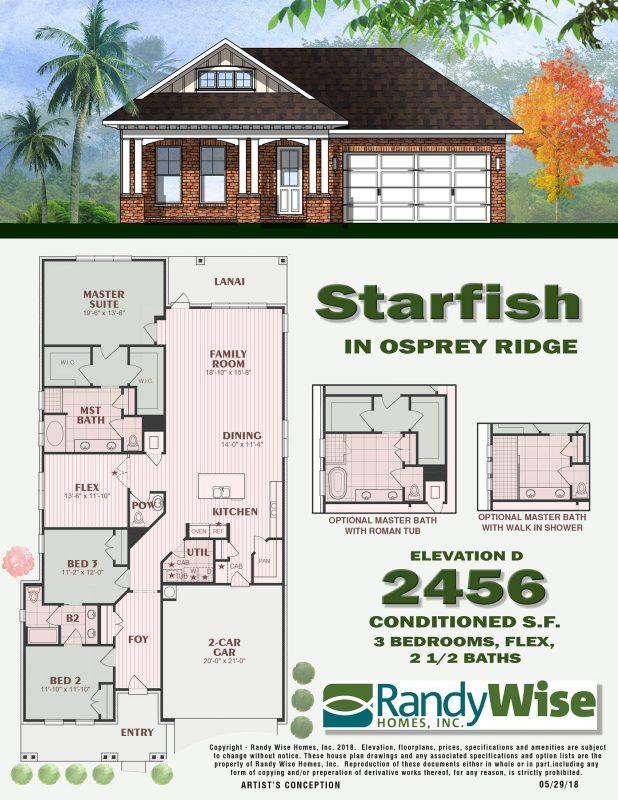 Starfish D Floorplan in Osprey Ridge