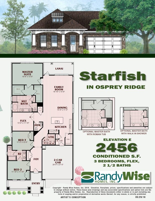 Starfish E Floorplan in Osprey Ridge